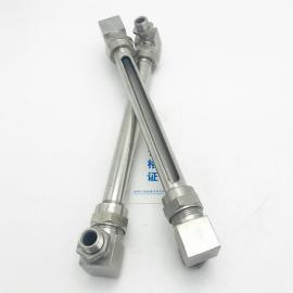 简易型玻璃管式液位计不锈钢小型玻璃管液位计 小型玻璃管水位计