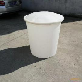 腾洁 300L塑料加盖圆桶 大口腌制桶 酿酒发酵桶 pe牛筋塑料桶 300