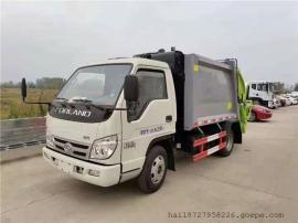 福田4吨蓝牌压缩式垃圾车2019全新出售