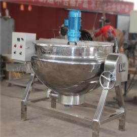 五香猪肉蒸煮夹层锅 自动搅拌酱料炒锅 大型辣椒酱炒锅
