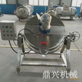 电加热夹层锅 全自动酱料炒锅 可倾式搅拌夹层锅