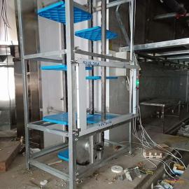 恒昌循环式传菜机体积小 效率高 一台抵六台传统厢式传菜梯