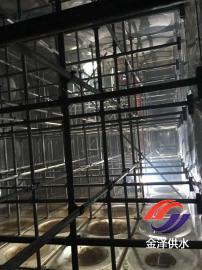 抗浮地埋箱泵一体化的地埋水箱内部拉筋站柱结构图