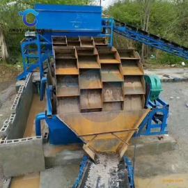 水轮式环保洗砂机 砂石厂专用轮斗洗砂机