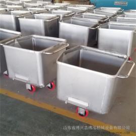 不锈钢桶车物料周转车小料车料斗车肉料车手推桶车