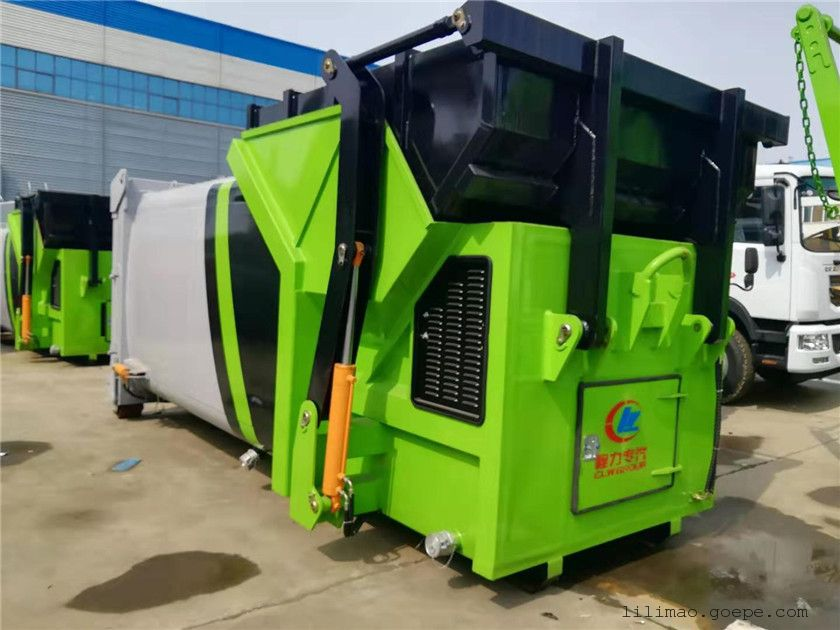 8方、10方、12方、15方、18方移动式联体压缩垃圾箱及配套勾臂车