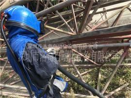 塔吊除锈喷砂机 快速除锈翻新塔吊油漆锈斑