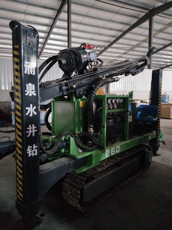 涌泉260型地热水井钻机玉柴动力 履带液压 配2923空压机气钻