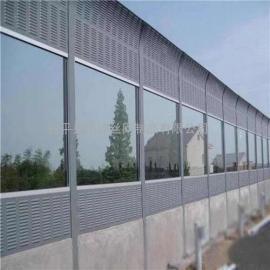高速公路声屏障 镀锌喷塑圆孔弧形消音板马路隔音墙