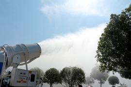 环保雾炮车|东风朝柴102马力远程雾炮车配置技术参数