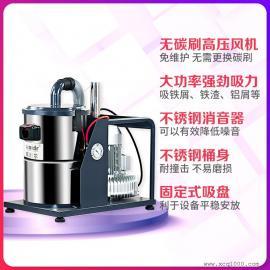 打磨配套大吸力工�I吸�m器工厂简易型配套强力吸尘机