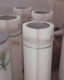 打磨吸尘柜专用滤芯 聚酯纤维除尘滤筒 覆膜滤筒
