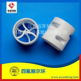 塑料之王聚四氟乙烯PTFE鲍尔环填料具有耐高温耐酸碱优点