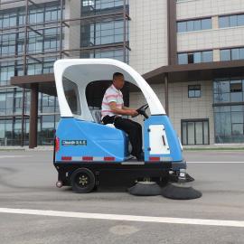 大型工业厂区卫生清扫车扫地机马路室外树叶垃圾果皮清理扫地机