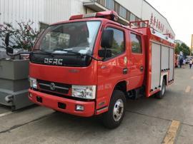 装水2吨小型消防车 江特牌东风2吨水罐消防车