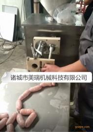 气动定量扭结灌肠机,香肠全自动灌装机