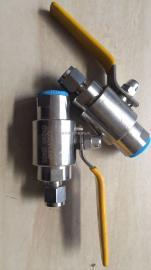 QG.QY1-64P不锈钢气源卡套式内螺纹球阀