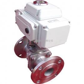 电动法兰铸钢不锈钢开关球阀 电动高温蒸汽水调节球阀Q941F-16P
