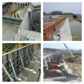 专拦河坝液压景观闸门制造 纯液压翻板闸门