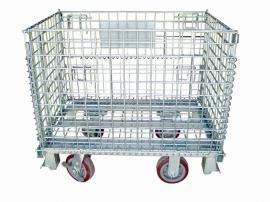 超市专用带脚轮仓储笼利欣工业设备定制