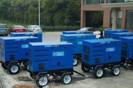 500A静音柴油发电电焊机带拖车