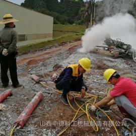 挖地基硬石膨胀开山机劈裂岩石设备