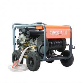 高压水管道疏通机双缸大马力柴油机驱动进口意大利AR泵市政专用