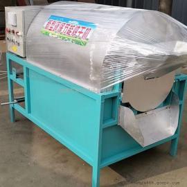 W油坊专用炒��C 环保花生大豆菜籽炒籽机 �f坤滚筒电加热炒锅