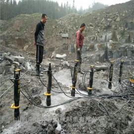 挖地基大劈力岩石分裂液压开山机