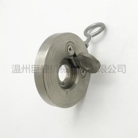 H74W-16正宗304不锈钢对夹式止回阀 圆片式超薄逆止阀DN100-4寸