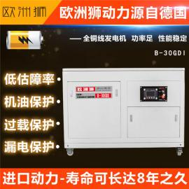 公司单位应急15kw静音汽油发电机