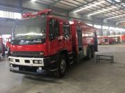 消防灭火射程达到70米的五十铃泡沫消防车