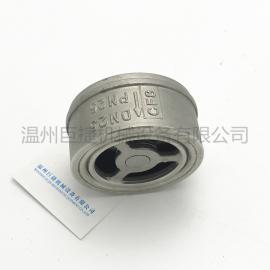 304不锈钢对夹式止回阀 单向阀H71W-16升降式薄型止回阀