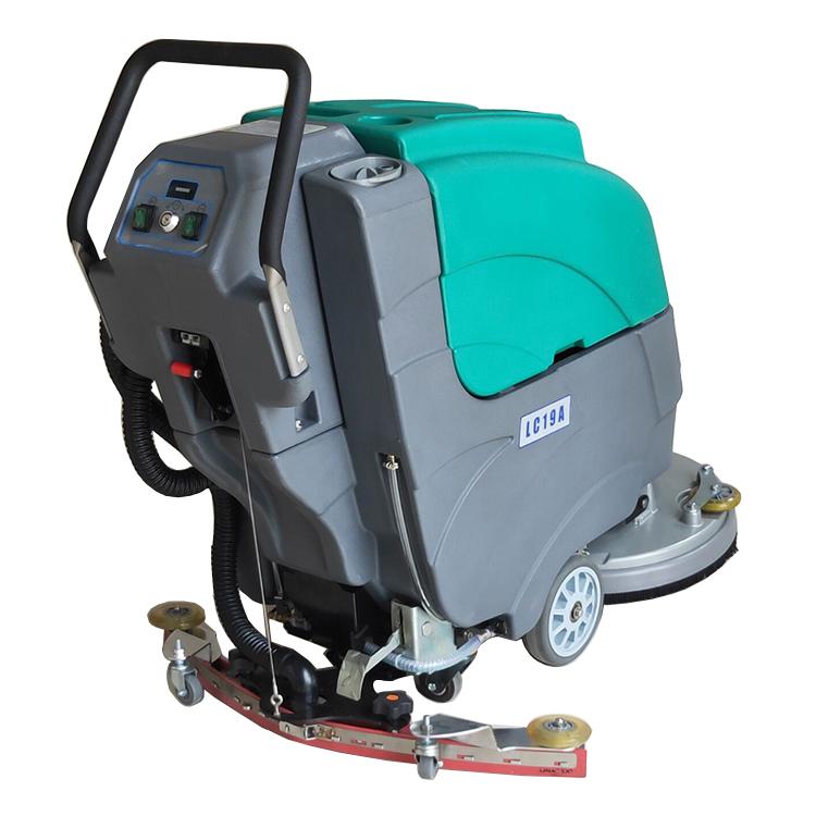 德克威诺物业保洁地下车库瓷砖大理石水磨石地面用移动式洗地机LC19A