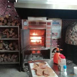 华腾新款小型烤炉设备 果木烤牛排炉专业生产品