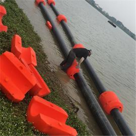 内直径50CM海上排泥疏浚管道塑料浮筒尺寸介绍