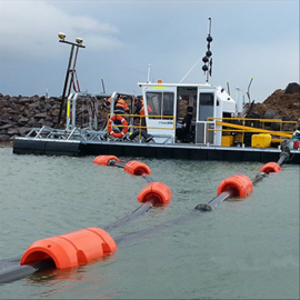 水上8寸夹管道浮筒 抽沙船配套塑料浮管介绍