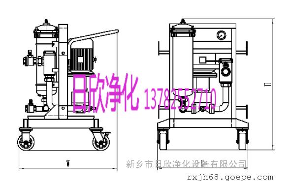 汽轮机油高粘油滤油机不锈钢过滤器GLYC-100
