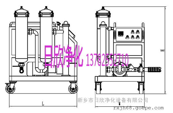 不锈钢汽轮机油GLYC-100高粘油滤油机过滤器