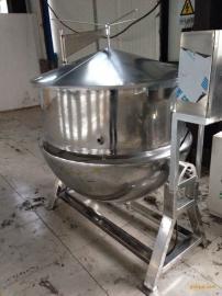 1000L药材蒸煮夹层锅 可倾式蒸汽蒸煮夹层锅