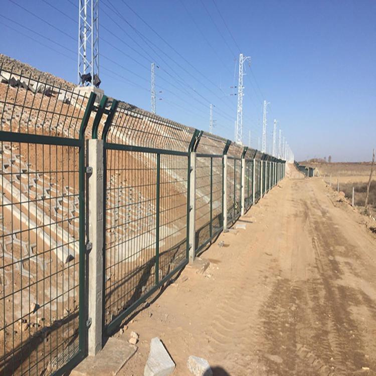 铁路防护栅栏-热镀锌铁路防护栅栏-高铁防护栅栏