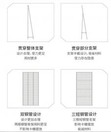 瓷砖挂板-瓷砖冲孔板-黑色冲孔板瓷砖展示墙