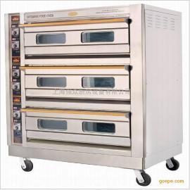 恒联PL-6商用烘炉蛋糕蛋挞烘烤炉大型烤箱三层六盘面包披萨烤箱