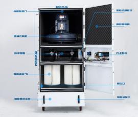 工业柜式吸尘机脉冲反吹清理集尘机