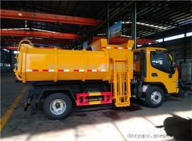 厢体液压油缸举升自卸运输车,顶盖翼展开启污泥运输车