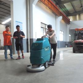 泰兴手推式洗地机YSD-A3物流仓库工厂车间环氧水磨石地面清洗机
