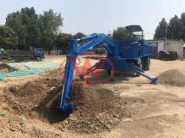 小型农用轮式随车挖15吨矿用车