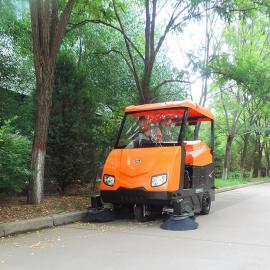 电动户外道路树叶清扫车大学校园全自动扫地机社区街道扫路机