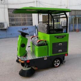 简易棚电动扫路车 广场环卫电动扫地机 多功能清扫车