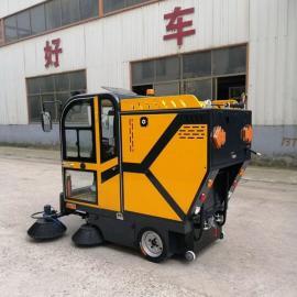 工厂库房专用多功能扫路车 小型道路清扫车 环卫电动扫地机